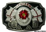 England English Rose Land of Hope and Glory Flags Belt Buckle + display stand. Product Code: BB5